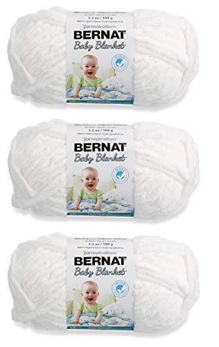 Bernat Bulk Buy Baby Blanket Yarn (3-Pack) White 161103-3005
