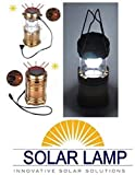 Global Craft 6 LED Solar Power Camping Lantern Light Rechargable Collapsible Night Light Waterproof Outdoor Super Bright Hiking Flashlight Model 53264