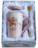 Mugpie Grandma Gifts Coffee Mug- Funny Mothers Day Gifts Birthday Christmas Presents for Grandma from Son Daughter Kids Husband -Novelty 12.5oz Pink Tall Marble Ceramic Coffee Cup +Gifts Box