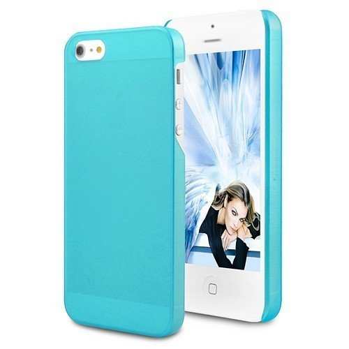 Slim couverture de silicone bleu clair bleu Barata Phone Housse de protection de couverture de cas de Shell Case Apple iPhone 5 élégance moderne et élégant