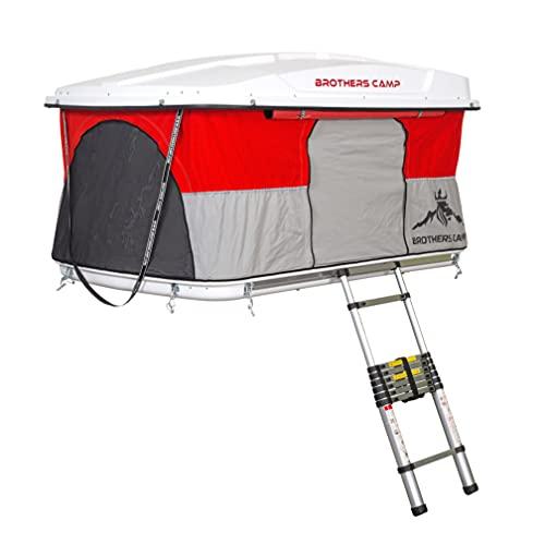 BrothersCamp® 3 Personen Dachzelt Autodachzelt Easy360 150x230cm Campingzelt Hartschale Moskitoschutz Auto Zelt wasserdicht für Outdoor...