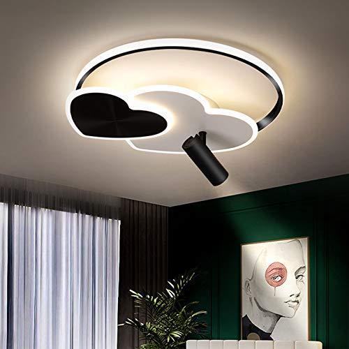 Lámpara De Techo LED Moderna, Luz De Techo Regulable por Control Remoto De Acrílico En Forma De Corazón con Focos Ajustables para Dormitorio, Sala De Estar,Diameter 60cm/23.6in