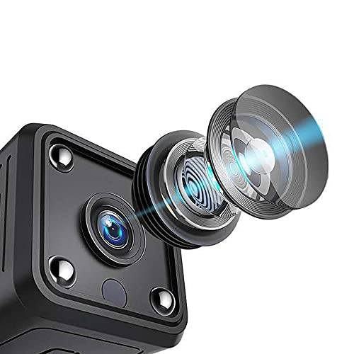 CHENPENG Mini cámara espía, cámaras Ocultas inalámbricas HD 1080P WiFi, con reproducción remota, función magnética, cámara de visión Nocturna, cámara de niñera Oculta