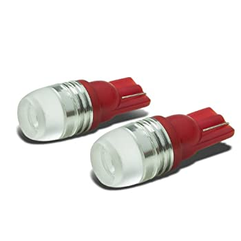 T10 194/168 Cree Q5 1W High-Power Red LED Light Bulb Pack of 2