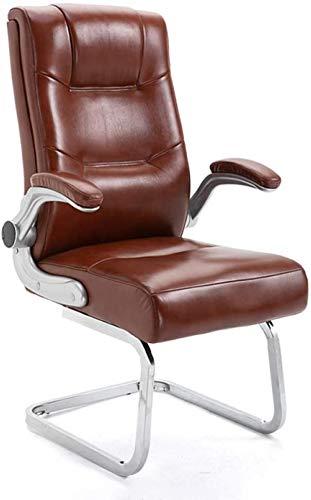 Silla de Oficina con Espalda Alta, Silla de Escritorio de computadora Grande de Cuero sintético, reposabrazos Ajustables de diseño ergonómico