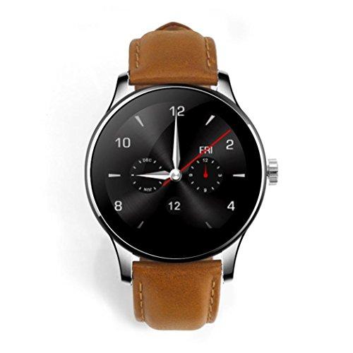 'amh-k88h Smart Watch 1.2mtk2502C Monitor Herzfrequenz Sport-Armband und Aktivität, Bluetooth 4.0, Traum und Blutdruck-Monitor, Schub, Informationen für iOS, Android, braun
