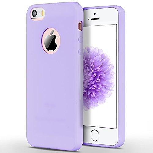 SpiritSun Custodia Apple iPhone 5 iPhone 5s iPhone iPhone 5 TPU Silicone Custodia Slim Bumper per iPhone 5 iPhone 5s iPhone SE Case Protezione Case Copertura Cover - Viola