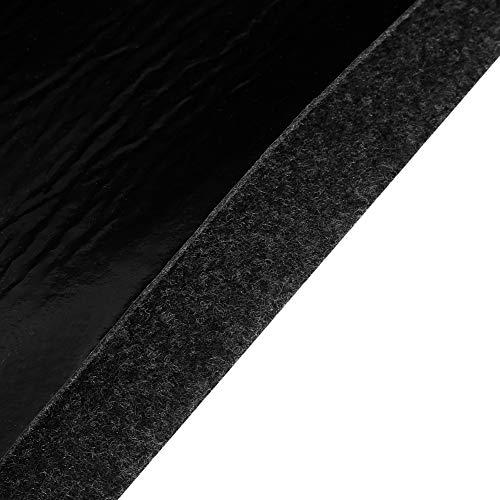 Denkerm 124 x 75 cm / 48,81 x 29,53 Zoll Schwarzer Grillboden-Teppich, Gasgrill-Spritzmatte, rutschfest für Ihre angenehme Grillzeit im Freien