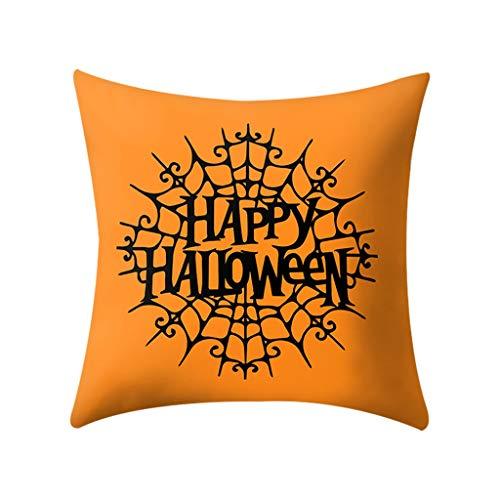 Javntouy Cushion Cover Sofa Car Pillow Case Cover Halloween Print Pillow Case Polyester Sofa Car Cushion Cover Home Decor 4PCS