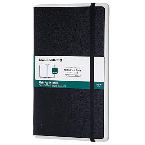 Moleskine Notebook Paper Tablet, Taccuino Digitale con Pagine Bianche e Copertina Rigida, Notebook Adatto all'Uso con Pen Moleskine+, Colore Nero, Dimensione Large 13 x 21 cm