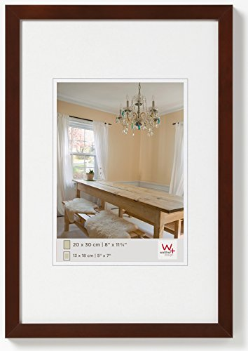 Walther design BP130N Peppers Bilderrahmen, Holz, 21 x 29,7 cm, nussbaum