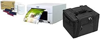 DNP DS620A Dye Sub Professional Photo Printer - Bundle with 2X 4x6 Dye Sub Media for DS620A Printer, Padded Printer Carrying Case