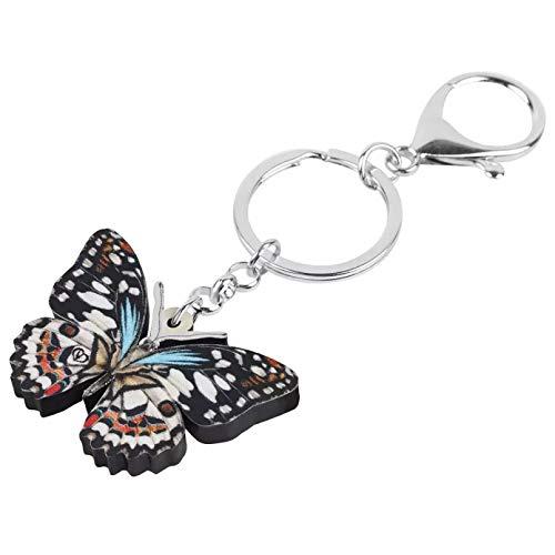 Schlüsselanhänger Schlüsselring Schwalbenschwanz Schmetterling Schlüsselanhänger Schlüsselring Tier Schmetterling Schlüsselanhänger Für Frauen Mädchen Männer Geschenk Geldbörse Dekoration
