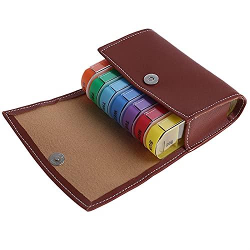 Pastillero 28 cuadrados semanalmente 7 días tablet píldora caja de la caja de la caja de almacenamiento de la medicina organizador del contenedor de la caja de la cartera de la caja de la caja de la c