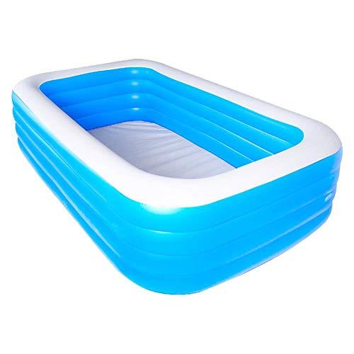Ablerfly Aufblasbarer Swimmingpool, 200 cm 150 cm 68 cm Verdickter PVC-Familien-Aufblasbarer Pool für Hinterhöfe, Außenbereiche, Kinder, Erwachsene Rechteckiger Swimmingpool