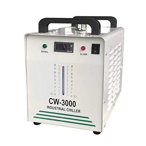 Enfriador Agua Industrial CW-3000DG 60/80W Agua Chiller Enfriador para CNC láser de grabado grabado máquinas CO2 Manguera Enfriadora DHL (9 L, tipo 50 W, para tubos CNC)