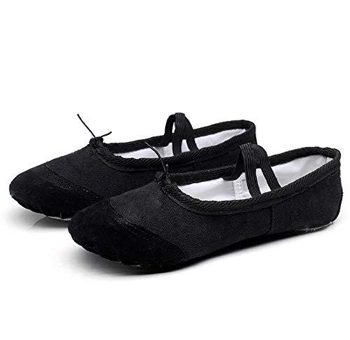 Zapatos de baile para niños de suela suave de ejercicio de danza zapatos de ballet zapatos de danza de lona transpirable, color, talla 42 EU