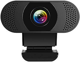 Kaulery Webcam con Microfono a cancellazione di Rumore, Webcam per PC HD 1080P, videocamera Web USB Plug And Play per Streaming, videochiamata, Studio Online, conferenza, Registrazione, Gioco