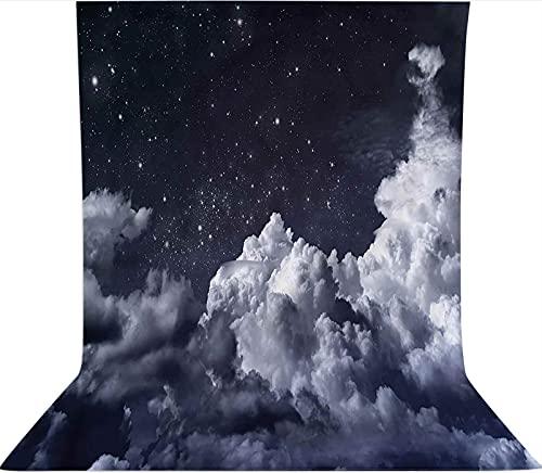 Fondo de fotografía de 3 x 3,6 m, diseño de espacio astronómico, telón de fondo de tela de microfibra, pantalla plegable de alta densidad para fotografía cabina de fotos