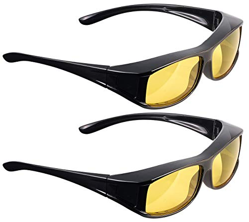 PEARL Senioren-Brille: 2er-Set Überzieh-Nachtsichtbrillen Night Vision Pro (HD-Nachtsichtbrille)