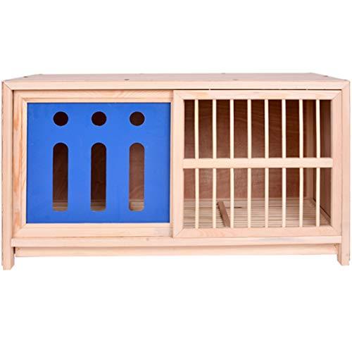 YHRJ Jaula para ninfas Jaula a Juego del pájaro del Animal doméstico del hogar,Jaula de cría de Palomas ecológica,Puerta a Prueba de luz con Panel de Aluminio y plástico Push-Pull