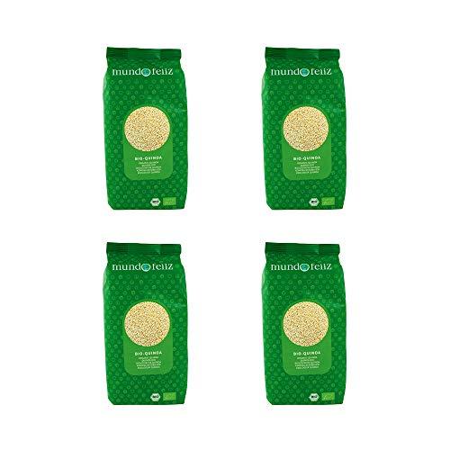 Mundo Feliz, Quinoa Biologica, 500 g, Confezione Da 4