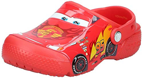 Crocs Fun Lab Cars Clog Unisex Niños Zuecos, Rojo (Flame), 32/33 EU