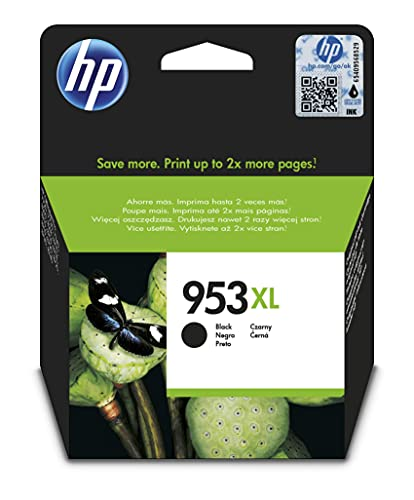 HP 953XL L0S70AE, Negro, Cartucho de Tinta de Alta Capacidad Original, compatible con impresoras de inyección de tinta HP OfficeJet Pro 7720, 7730, 7740, OfficeJet Pro Series 8000
