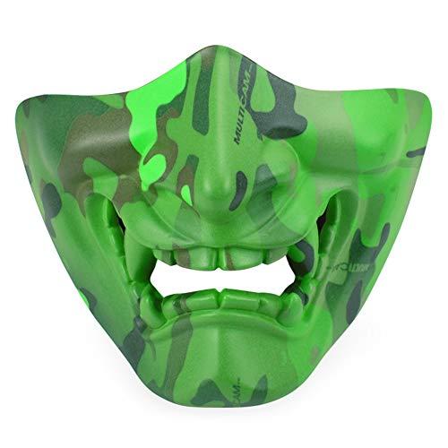 Lbellay Horror Ghost Face Half Face Mask Máscara táctica Fluorescente al Aire...