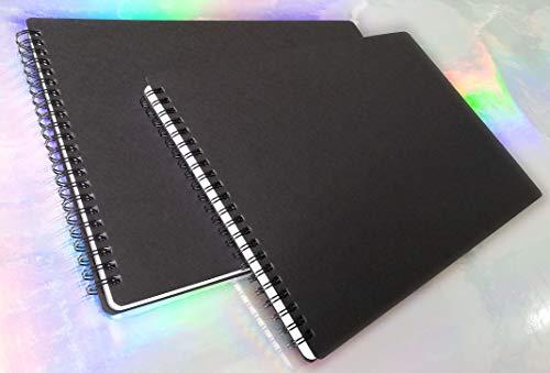 tipome Set 2 Album da Disegno spiralato in Formato A4 29x20cm. Quaderno Composto da 50 Fogli in Carta Italiana Fsc Bianca Liscia da 140 gr. (Totale 100 Fogli)