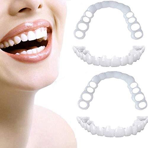 HTTYU Magic Teeth Smile Dientes Carillas Temporal Cosmtico Dientes Cubierta Superior E Inferior Conjunto Reutilizable Ortodoncia Dientes5 Pairs