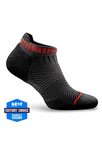 Rockay Accelerate Anti-Blister Running Socks for Men and Women Organic Merino Wool & Compression Arch (1 Pair)