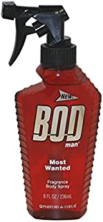 Bod Man Most Wanted By PARFUMS DE COEUR FOR MEN 8 oz Fragrance Body Spray