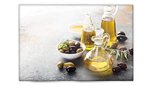 Glasvision   Küchenrückwand aus Glas   Spritzschutz   Memoboard   Herdabdeckplatte (60 x 40 cm, Fine Olive)