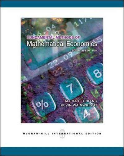 Fundamental Methods of Mathematical Economicsの詳細を見る