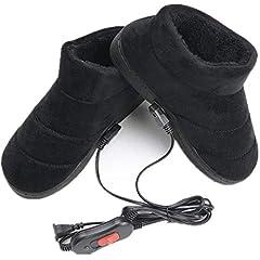 Idea Regalo - HHY-X Riscaldata Pantofole USB Piede Scarpa più Caldo Riscaldamento Elettrico Scarpe Piedi Pad,A,39~41