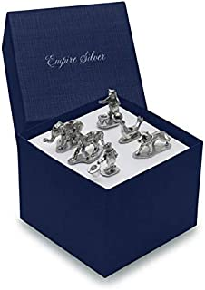 Empire Silver Birthday Candle Holders, Set of 6