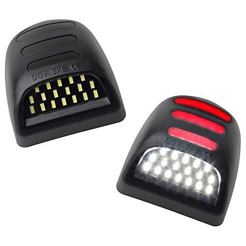 Kuinayouyi 2 luces LED SMD rojas para placa de matrícula para Chevy Silverado Suburban Tahoe GMC Sierra 1500 2500 3500