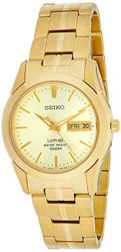 Seiko Herren Analog Quarz Uhr mit Edelstahl Armband SGGA62P1