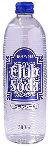 コダマ飲料 クラブソーダ 瓶 500ml