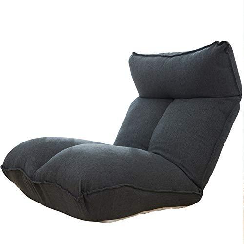FBKPHSS Multifunktion Sitzkissen, Verstellbar Faltbar Bodenstuhl Bodenkissen mit Rückenlehne Bequem und Atmungsaktiv Bodensessel Für Indoor- oder Outdoor,Dark Gray