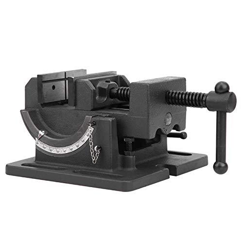 Prensa de taladro universal, tornillo de banco inclinable, tornillo de banco de mesa de ángulo ajustable de 3.0 in, tornillo de banco de prensa de taladro de hierro fundido de alta resistencia