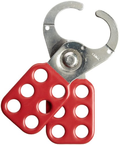 Brady - 65375 Steel Lockout Hasp with Vinyl-Coated Handle, 1
