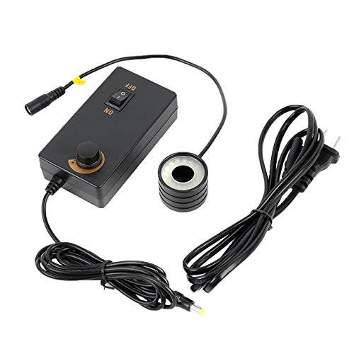 Cxjff 32 LED-Ringlicht 28 mm Einbaudurchmesser Illuminator Lampe Mikroskop Zubehör for Industrie HDMI USB-Videomikroskop (Black & US-Stecker)