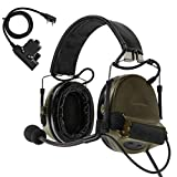 TAC-Sky COMTA II Tactical Headset Hearing Defender Noise Reduction Sound Pickup for Airsoft Sports (Army Green)