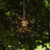 Kamaca LED SOLAR Gartenleuchte Hänger Firework mit wundervollen Lichteffekten Größe ca. 45 cm x 28 cm mit integriertem SOLARPANEL (Firework hängend)