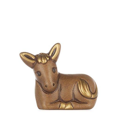 THUN® - Asinello Marrone - Statuine Presepe Classico - Ceramica - I Classici