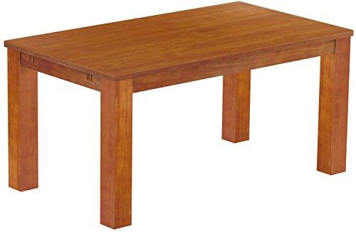 Brasilmöbel Esstisch Rio Classico 160x90 cm Kirschbaum Massivholz Pinie Holz Esszimmertisch Echtholz Größe und Farbe wählbar ausziehbar vorgerichtet für Ansteckplatten