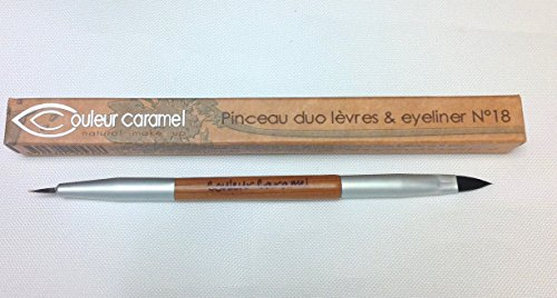 Couleur Caramel - Pinceau Duo Lèvres et Eyeliner n°18