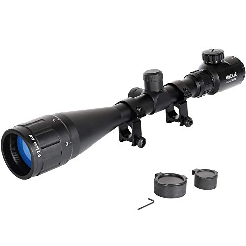 Aomekie Rifle Scopes Airsoft Mirino 6-24x50 AOEG Mil-Dot Telemetro Red Dot Mirino con 22mm Weaver   Picatinny Rail Mount e copertine per Caccia Balestra